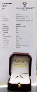 Jewellery certificate