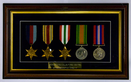 Medal Mounting And Display In Glass Cases With Brass Plaques Engraved