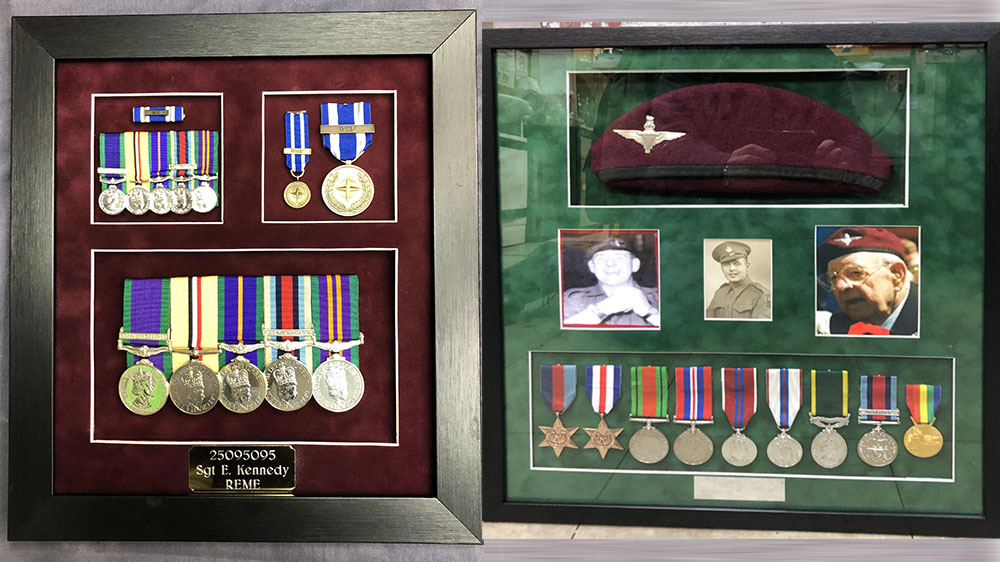 Medal displays