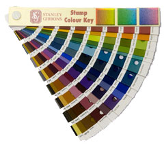 Stamp colour key